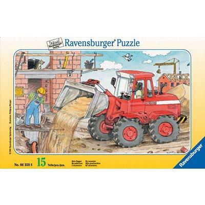 Ravensburger-06359 15 Teile Rahmenpuzzle - Mein Bagger