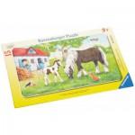 Ravensburger-06375 Rahmenpuzzle - Stute und Fohlen