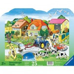 Ravensburger-06474 Puzzle 25 Teile Rahmenpuzzle - Moderner Bauernhof