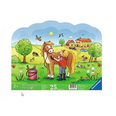 Ravensburger-06476 Rahmenpuzzle - Mein liebes Pferd