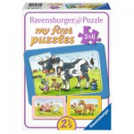 Ravensburger-06571 3 Puzzles - My First Puzzle - Gute Tierfreunde