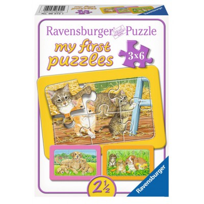 Ravensburger-06572 3 Puzzles - My First Puzzle - Liebste Haustiere