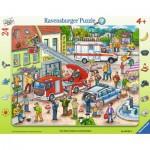 Ravensburger-06581 Rahmenpuzzle - 110, 112 - Eilt herbei!