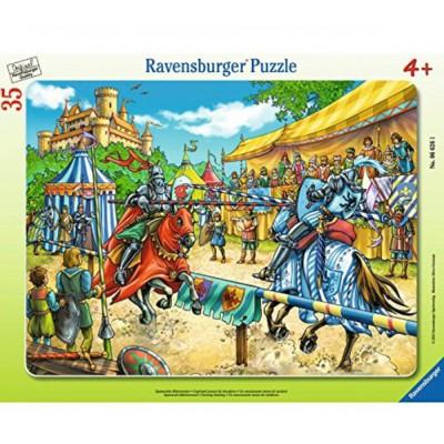 Ravensburger-06626 Rahmenpuzzle - Spannendes Ritterturnier