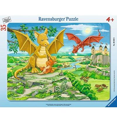 Ravensburger-06628 Rahmenpuzzle - Auf dem Drachenfels