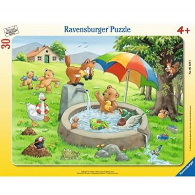 Ravensburger-06629 Rahmenpuzzle - Badespaß im Sommer