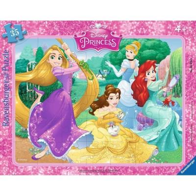 Ravensburger-06630 Rahmenpuzzle - Wunderschöne Prinzessinnen