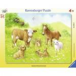 Ravensburger-06631 Rahmenpuzzle - Süße Tierbabies