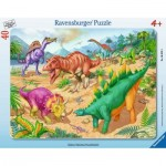 Ravensburger-06635 Rahmenpuzzle - Urzeitriesen