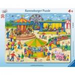 Ravensburger-06636 Rahmenpuzzle - Auf dem Rummel