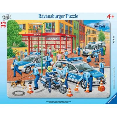 Puzzle Ravensburger-06642 Großer Polizeieinsatz