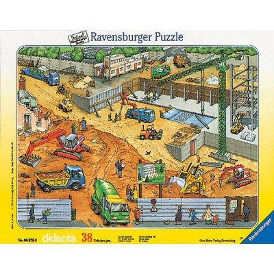 Ravensburger-06678 38 Teile Rahmenpuzzle -  Auf der Baustelle