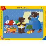 Ravensburger-06765 Rahmenpuzzle - Der Kleine Braunbär in seinem Zimmer