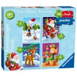 Ravensburger-06854 4 Puzzles - My First Puzzles - Christmas Friends