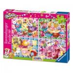 Ravensburger-06855 4 Puzzles - Shopkins Bumper Pack