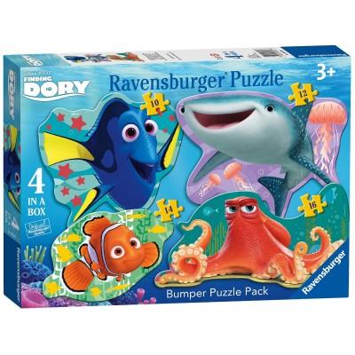 Ravensburger-06858 4 Puzzles - Findet Dorie