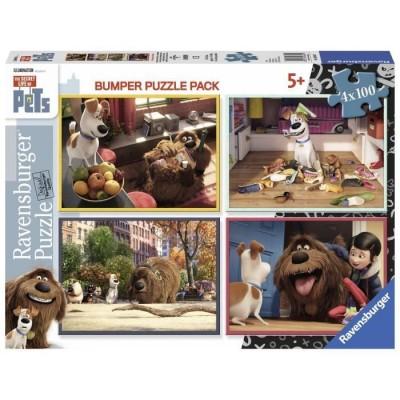 Ravensburger-06860 4 Puzzles - The Secret Life of Pets