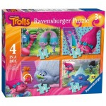 Ravensburger-06864 4 Puzzles - Trolls