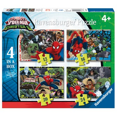 Ravensburger-06867 4 Puzzles - Spiderman