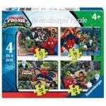 Ravensburger-06867 4 Puzzles - Spiderman