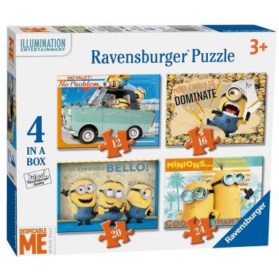Ravensburger-06868 4 Puzzles - Minions