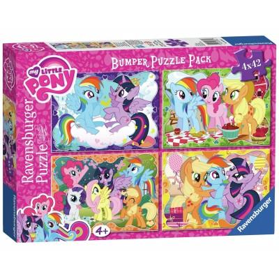 Ravensburger-06875 4 Puzzles - My Little Pony