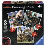 Ravensburger-07005 3 Puzzles - Dragons