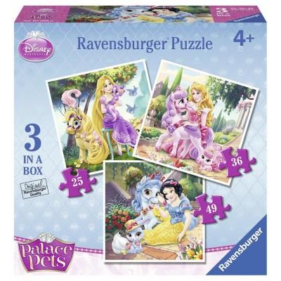 Ravensburger-07006 3 Puzzles - Disney Princess