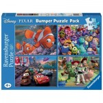 Ravensburger-07023 4 Puzzles - Disney Pixar - Nemo, Toy Story, Monster AG, Cars