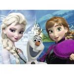 Ravensburger-07029 4 Puzzles - Frozen - Die Eiskönigin