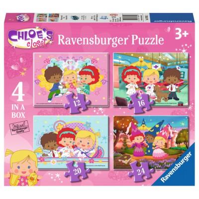 Ravensburger-07031 4 Puzzles - Chloe