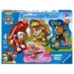 Ravensburger-07032 4 Puzzles - Paw Patrol
