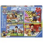 Ravensburger-07034 4 Puzzles - Paw Patrol