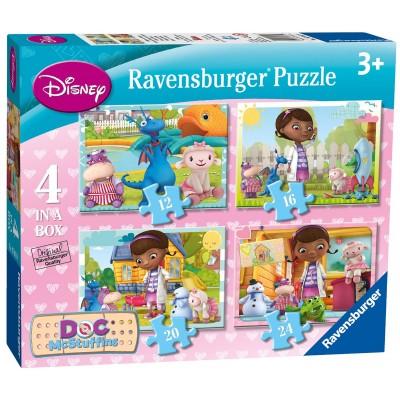 Ravensburger-07061 4 Puzzles - Doc Mcstuffins