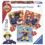 Ravensburger-07065 3 puzzles - Feuerwehrmann Sam