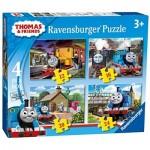 Ravensburger-07070 4 Puzzles - Thomas & Friends