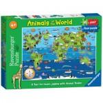 Ravensburger-07072 Riesen-Bodenpuzzle - Tierwelt (auf Englisch)