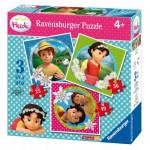 Ravensburger-07074 3 Puzzles - Heidi