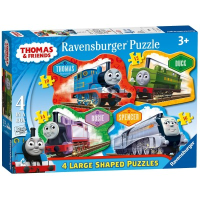 Ravensburger-07078 4 Puzzles - Thomas & Friends