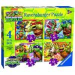 Ravensburger-07099 4 Puzzles - Ninja Turtles