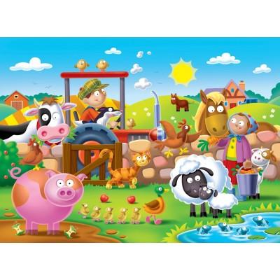 Ravensburger-07109 Riesen-Bodenpuzzle - Farmyard Friends