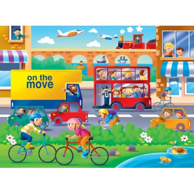 Ravensburger-07110 Riesen-Bodenpuzzle - On the Move