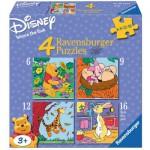 Ravensburger-07123 4 Puzzles - Winnie Pooh