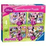 Ravensburger-07127 4 Puzzles - Minnie Mouse