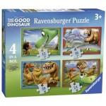 Ravensburger-07143 4 Puzzles - Arlo und Spot