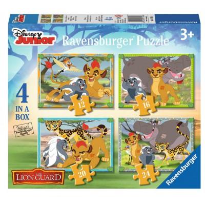 Ravensburger-07158 4 Puzzles - The Lion Guard