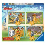 Ravensburger-07158 4 Puzzles - The Lion Guard