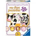 Ravensburger-07176 6 Puzzles - Tiere und ihre Kinder