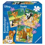 Ravensburger-07210 3 Puzzles - Bambi