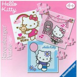 Ravensburger-07217 3 Puzzles - Hello Kitty